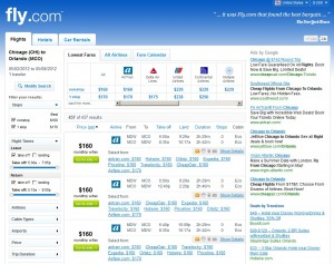 Fly.com Search Results
