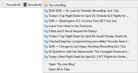 Fly.com Blog Live Bookmark