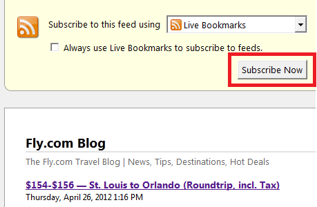 Fly.com Live Bookmark Subscribe