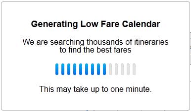 Generating Custom Fare Calendar