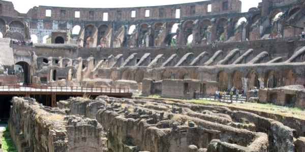 Inside the Coliseum in Rome