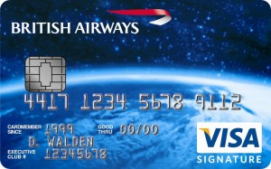 "British Airways Signature Visa Card with ""Chip and Pin"" Technology 