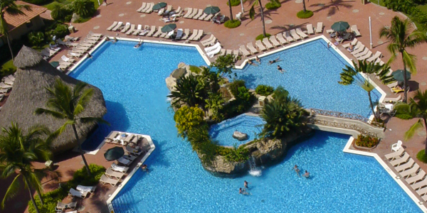 Birds-Eye View of the Hotel Pool