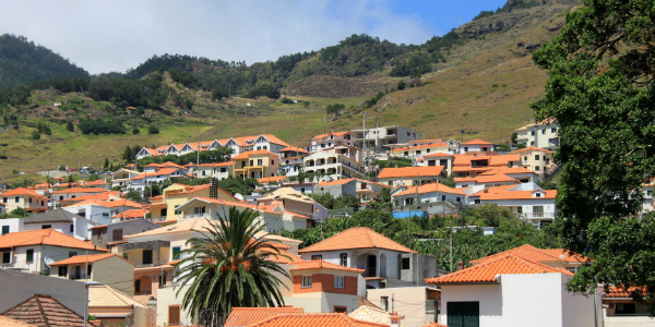 Madeira's hills present a sea of terracotta roofed homes