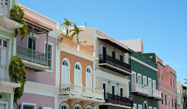 Colorful Houses in San Juan