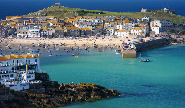 St. Ives Village and Harbor