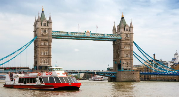 Sightseeing Boat Near Tower Bridge