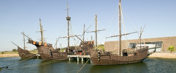 Replicas of Columbus' Ships in Palos, Spain
