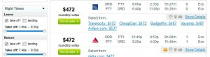 Fly.com Search Results: Chicago to Panama City