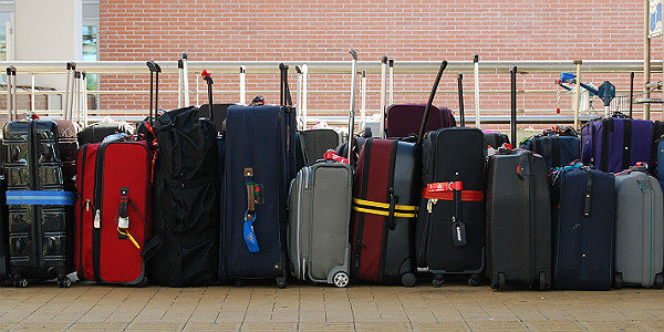 Line of Suitcases