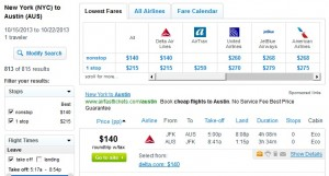 Fly.com Search Results: $140 -- NYC to Austin Nonstop (Roundtrip w/Tax)
