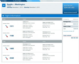 Seattle-Washington, D.C.: AA.com Search Results