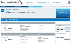 Seattle-New York City (Newark): AA.com Search Results