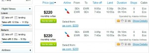 Seattle-New York City (Newark): Fly.com Search Results