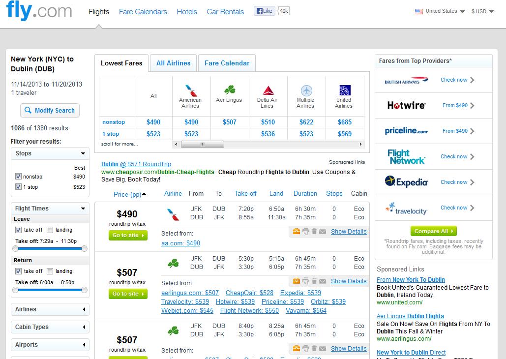 490 New York City To Dublin Nonstop Fly Com Travel Blog