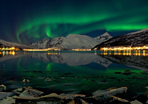 Fjord near Tromsø, Source: The Telegraph (Bjorn Jorgensen / National News & Pictures)