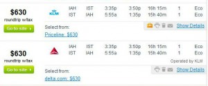 Houston-Istanbul: Fly.com Search Results