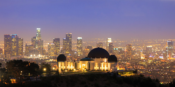Los Angeles Skyline from Griffith Observatory (Shutterstock.com)