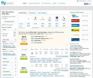 NYC to Milan: Fly.com Search Results
