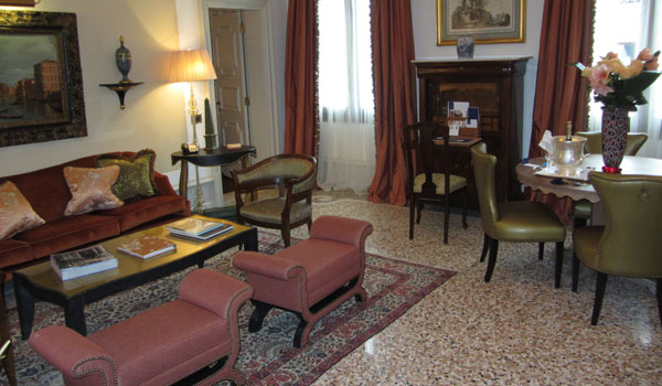 Gritti Palace Suite Sitting Room