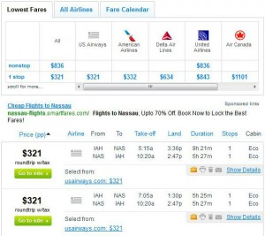 Houston to Nassau: Fly.com Search Results