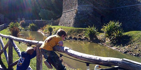 Moat at Castello di Amorosa (Michelle Erickson)