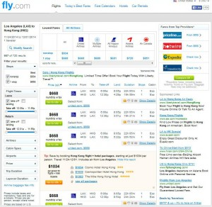 Log Angeles-Hong Kong: Fly.com Search Results