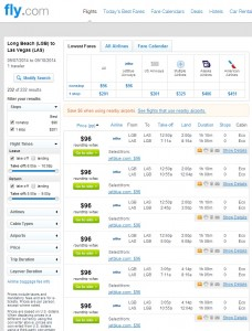 Long Beach to Las Vegas: Fly.com Search Results
