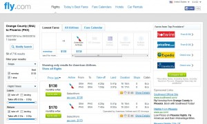 $138 -- Orange County to Phoenix: Fly.com Search Results