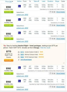 Chicago-Istanbul: Fly.com Search Results