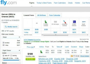 Denver-Orlando: Fly.com Search Results