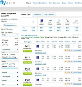 Seattle-San Juan: Fly.com Search Results