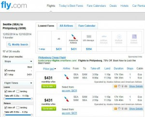 Seattle-St. Martin: Fly.com Search Results