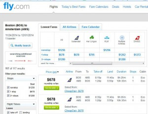 Boston-Amsterdam: Fly.com Search Results