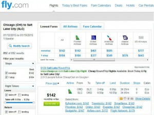 Chicago-Salt Lake City: Fly.com Search Results