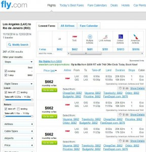 Los Angeles-Rio de Janeiro: Fly.com Search Results