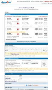 $588 -- San Francisco to Beijing: CheapOair Booking Page