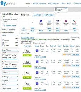 Boston-Lihue: Fly.com Search Results