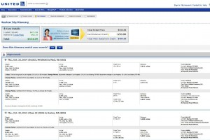 Boston-Maui: United Booking Page