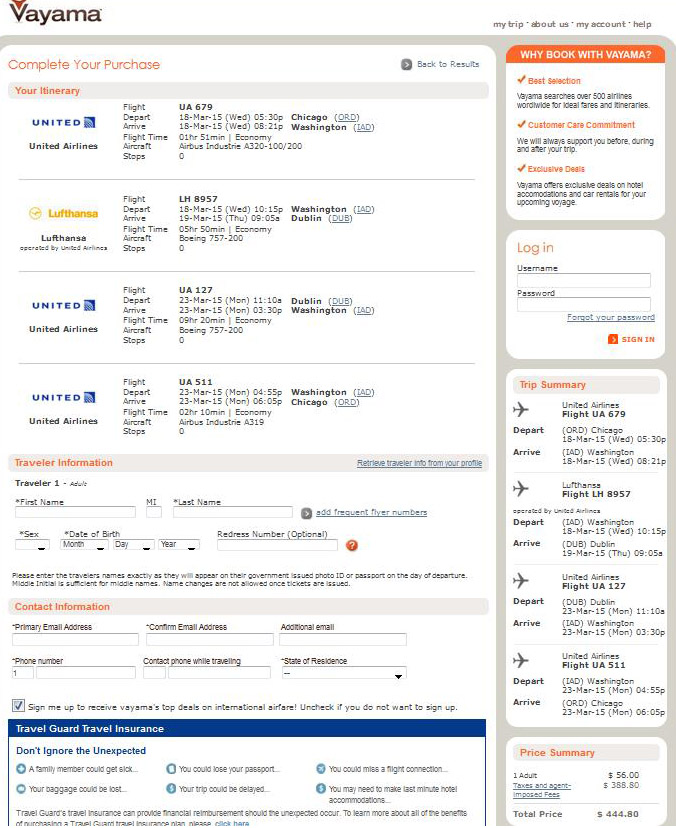 $429-$482 -- Chicago To Dublin, Ireland (R/T, W/Tax)
