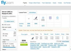 Denver-Reykjavik: Fly.com Search Results