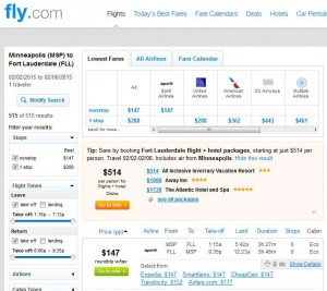 Minneapolis-Fort Lauderdale: Fly.com Search Results