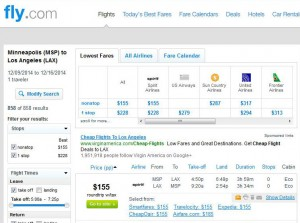 Minneapolis-Los Angeles: Fly.com Search Results