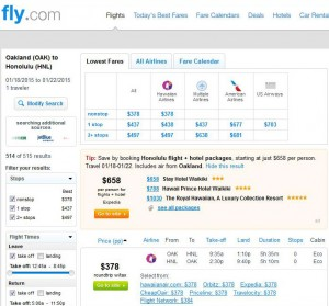 Oakland-Honolulu: Fly.com Search Results