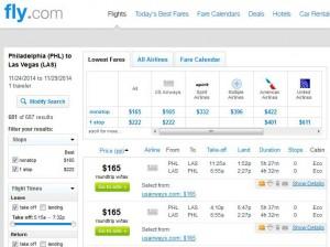 Philadelphia-Las Vegas: Fly.com Search Results
