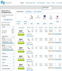Atlanta-Aruba: Fly.com Search Results