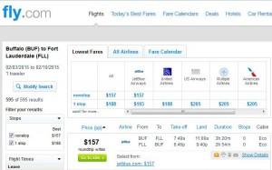 Buffalo-Fort Lauderdale: Fly.com Search Results