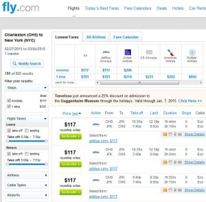 Charleston, SC-New York City: Fly.com Search Results