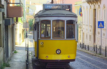 Lisbon Tram (Godfrey Hall)