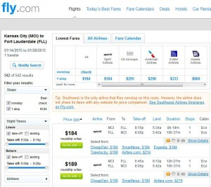 Kansas City-Fort Lauderdale: Fly.com Search Results